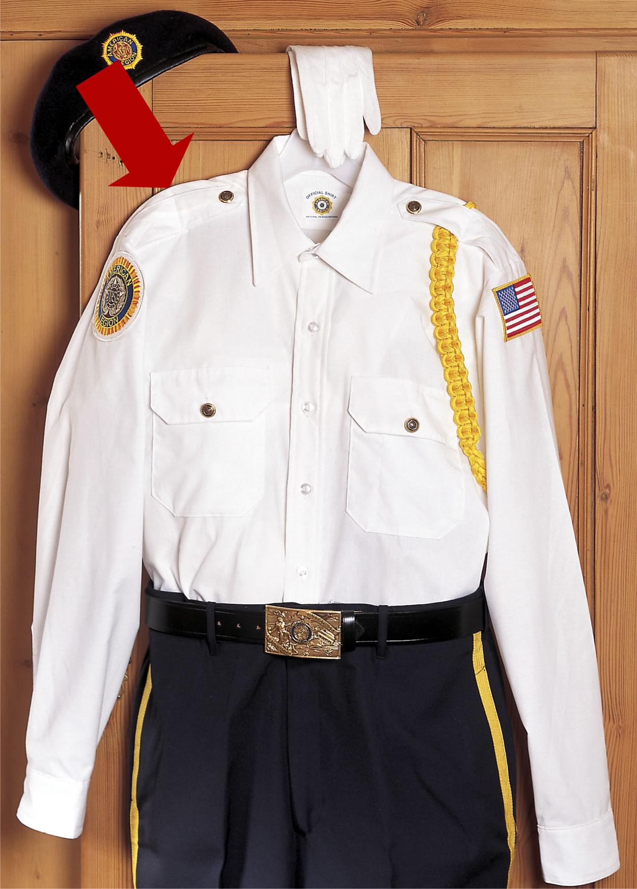 Uniform Shirt Men S Long Sleeve American Legion Flag