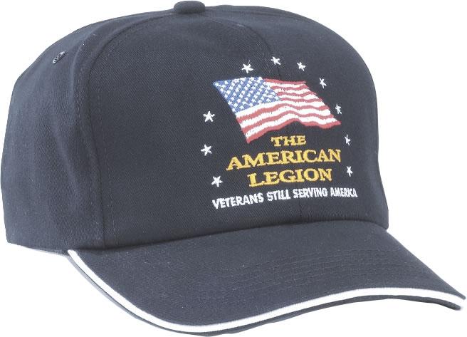 Serving America Cap American Legion Flag Amp Emblem