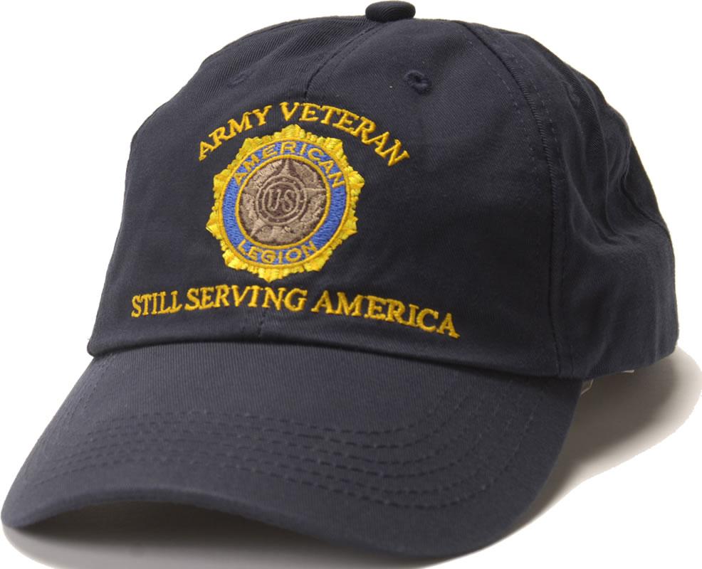 Army Veteran Emblem Cap American Legion Flag Amp Emblem