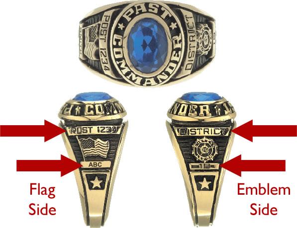 Custom Legion Past Commander Ring Women S American