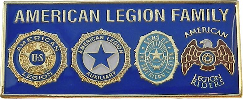 4 Emblem American Legion Family Tack American Legion