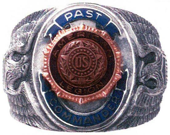 Sterling Sliver Past Post Commander Ring Size 7 5