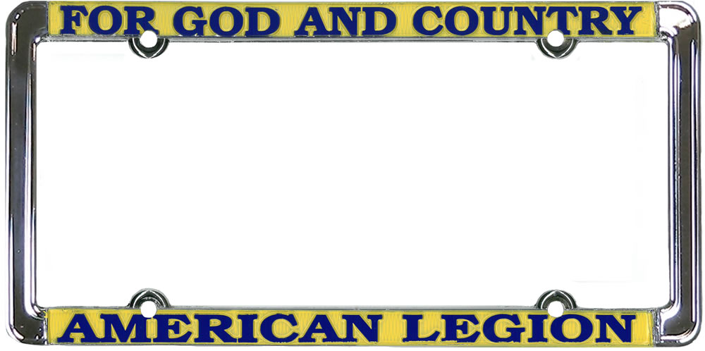 American Legion Auto Plate Frame - For God and Country - American ...