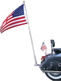 Heavy Duty Motorcycle Flag Pole American Legion Flag Emblem