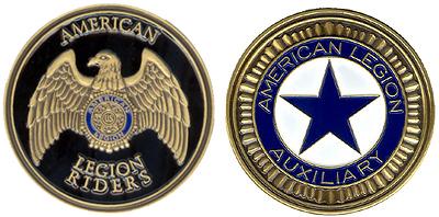 Auxiliary Legion Riders Coin American Legion Flag Amp Emblem