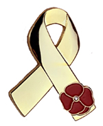 Poppy Awareness Ribbon Pin