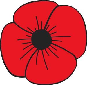 Poppy Flower Auto Magnet American Legion Flag Emblem