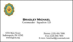 Business Cards American Legion Flag