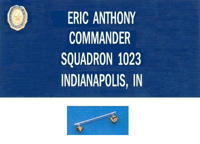 Regular Clutch Back Blue Nametag Sal American Legion