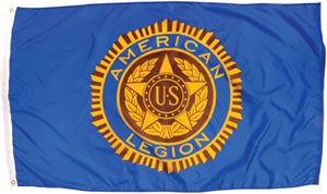 3X5 Outdoor American Legion Flag - Double-sided