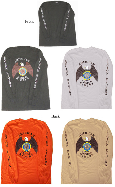 ... Long Sleeve T-shirt (Back Imprint) - American Legion Flag & Emblem