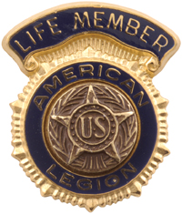 American legion life member patch
