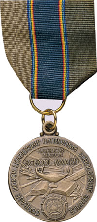 Legion School Award Medal Only American Legion Flag