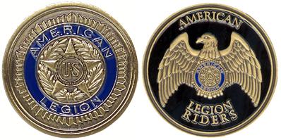 Legion Legion Riders Coin American Legion Flag Amp Emblem