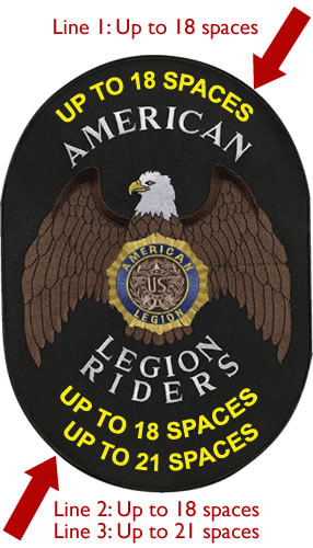 3-Line Legion Riders Back Patch