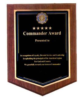 plaques american legion flag emblem