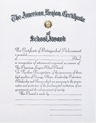 School Award Certificate
