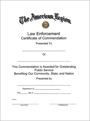 Law Enforcement Certificate