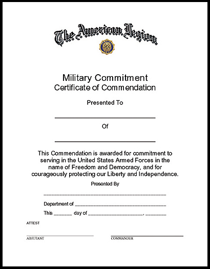 military commitment certificate