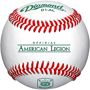 Diamond Baseballs: BOX (1 DOZEN) - American Legion Flag & Emblem