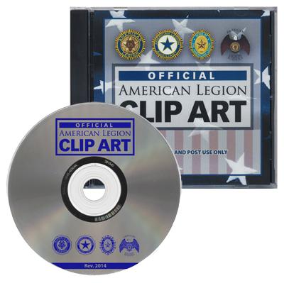 Clip Art CD-American Legion Flag & Emblem