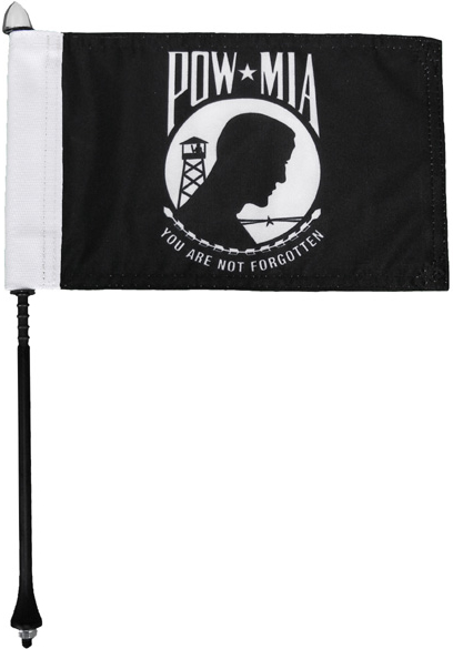 POW/MIA Motorcycle Flag Kit