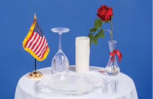 POW-MIA Ceremony Table Kit - American Legion Flag & Emblem