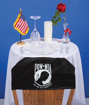 POW-MIA Ceremony Table Kit (with Chair Cover) - American ...