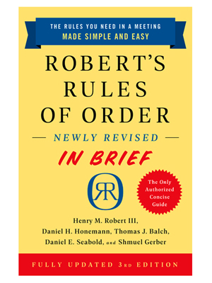 Robert's Rules of Order - In Brief