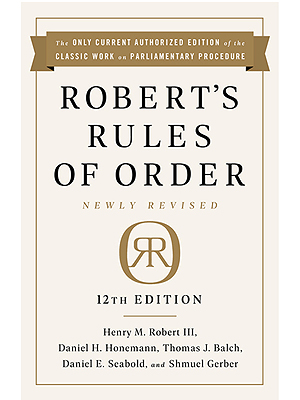 Robert's Rules of Order - 12th Edition