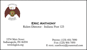 Emblem Business Cards American Legion