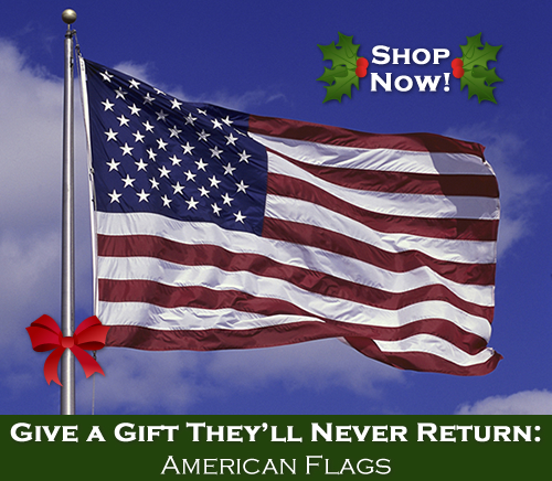 Give a gift they'll never return - American flags!