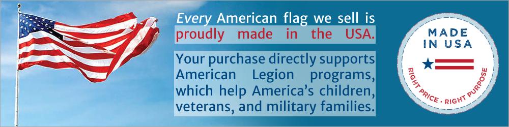 American Flags by American Legion