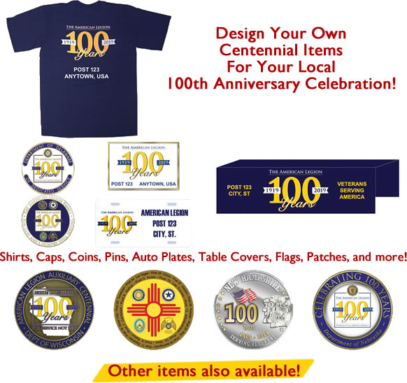 Centennial Special Orders Items
